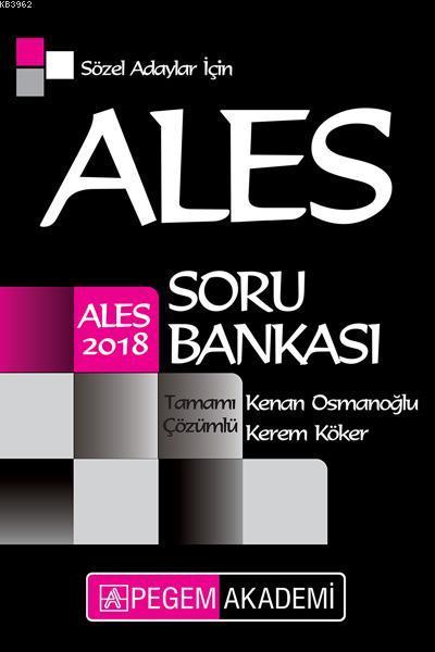 2018 ALES Sözel Adaylar için Tamamı Çözümlü Soru Bankası