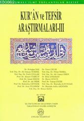Kur'an ve Tefsir Araştırmaları 3