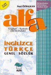 Alfa Genel Sözlük; 61.000 Kelime (ingilizce - Türkçe)