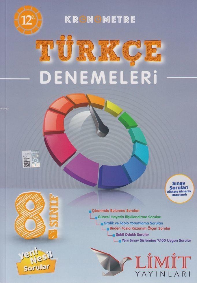 Limit Yayınları 8. Sınıf LGS Türkçe Kronometre Denemeleri Limit
