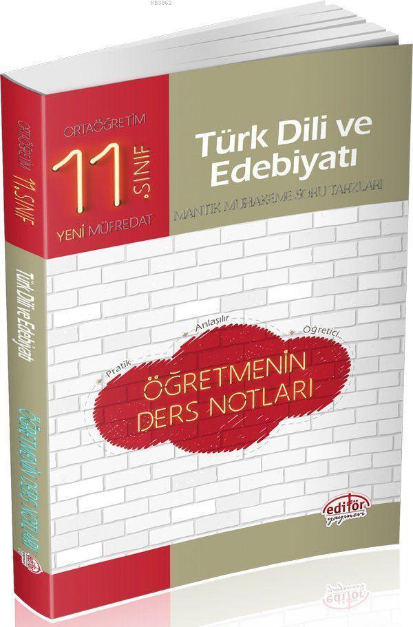 Editör Yayınları 11. Sınıf Türk Dili ve Edebiyatı Öğretmenin Ders Notları Editör