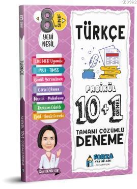 8. Sınıf LGS Türkçe Tamamı Çözümlü Fasikül 10 Branş 1 Genel Deneme