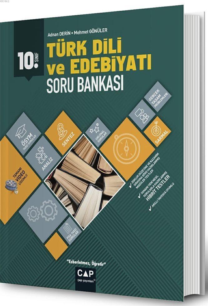 Çap Yayınları 10. Sınıf Anadolu Lisesi Türk Dili ve Edebiyatı Soru Bankası Çap