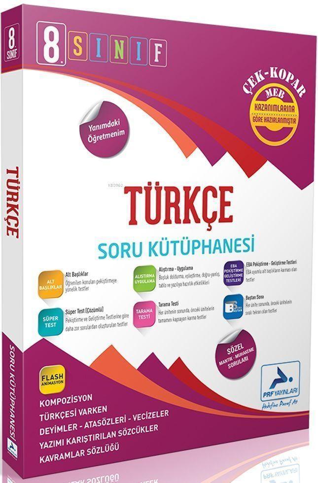 Paraf Yayınları 8. Sınıf LGS Türkçe Soru Kütüphanesi Paraf
