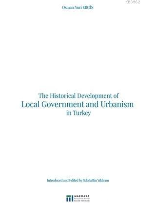The Historical Development of Local Government and Urbanism in Turkey