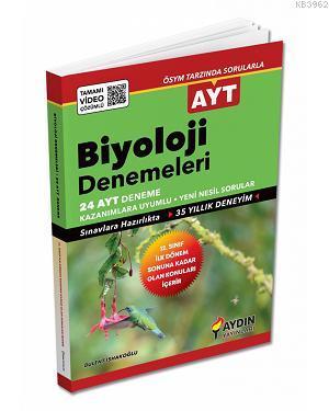 Aydın Yayınları AYT Biyoloji 24 Deneme 2020 Özel Aydın
