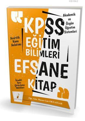 2019 KPSS Eğitim Bilimleri Efsane Tek Kitap Konu Anlatımlı