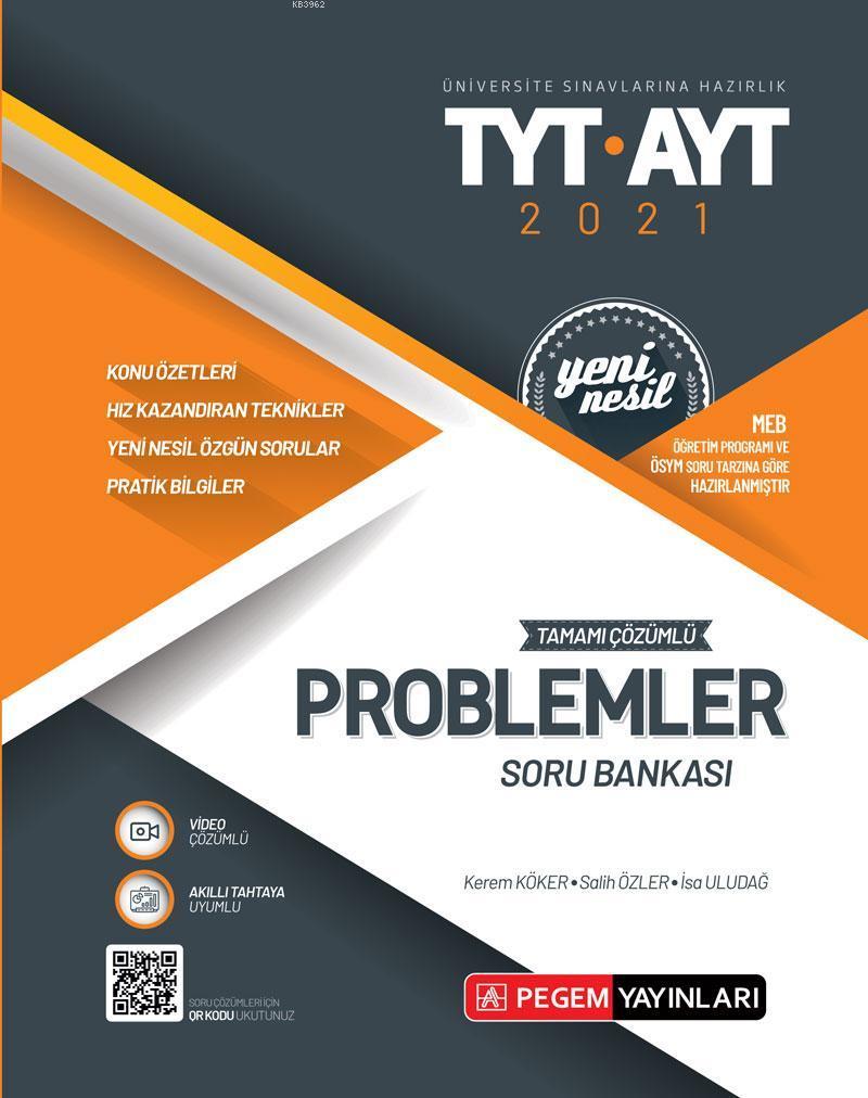 Üniversite Sınavları Hazırlık TYT-AYT Tamamı Çözümlü Problemler Soru Bankası