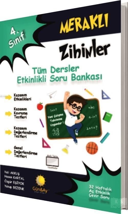 Günay Yayınları 4. Sınıf Meraklı Zihinler Tüm Dersler Etkinlikli Soru Bankası Günay