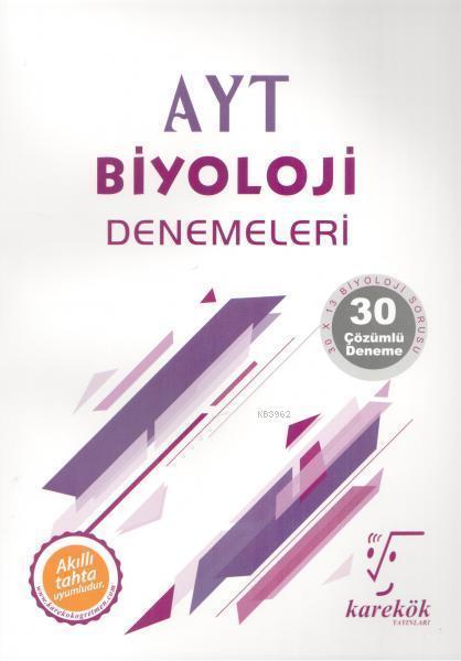 Karekök Yayınları AYT Biyoloji Denemeleri Karekök