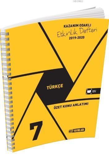 Hız Yayınları 7. Sınıf Türkçe Özet Konu Anlatımı Etkinlik Defteri Hız