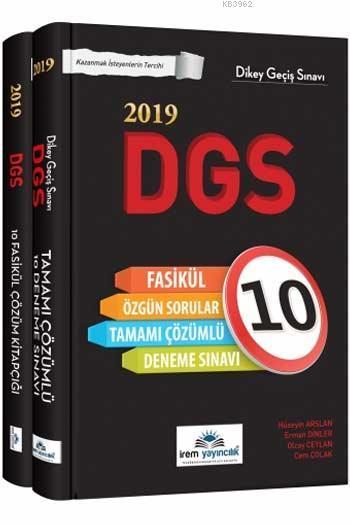 2019 DGS Tamamı Çözümlü 10 Fasikül Deneme