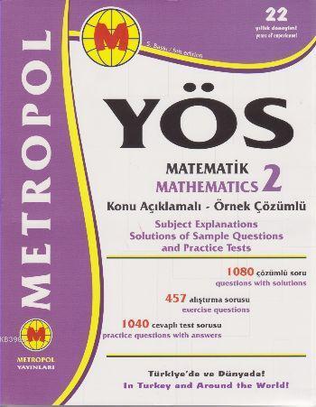 YÖS Matematik 2 Konu Açıklamalı Örnek Çözümlü