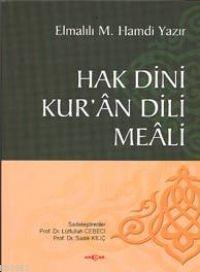 Hak Dini Kur'an Dili Meali (Ciltli)