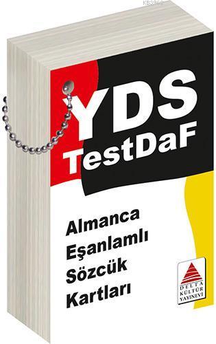 Delta Kültür Yayınları YDS Test Daf Almanca Eş Anlamlı Sözcük Kartları Delta Kültür