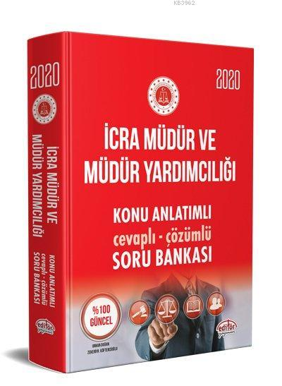 Editör Yayınları 2020 İcra Müdür ve Müdür Yardımcılığı Konu Anlatımlı Soru Bankası