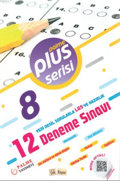 Palme Yayınları 8. Sınıf LGS Plus Serisi 12 Deneme Sınavı Palme