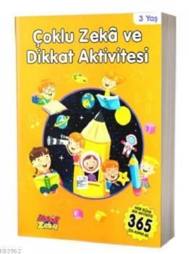 Zeka ve Dikkat Aktivitesi 3 Yaş - Turuncu Kitap