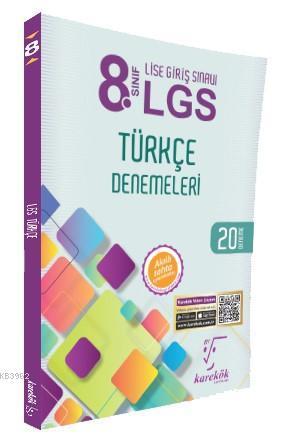 Karekök Yayınları 8. Sınıf LGS Türkçe 20 Deneme Karekök