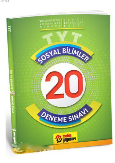 TYT Sosyal Bilimler 20 Deneme Sınavı