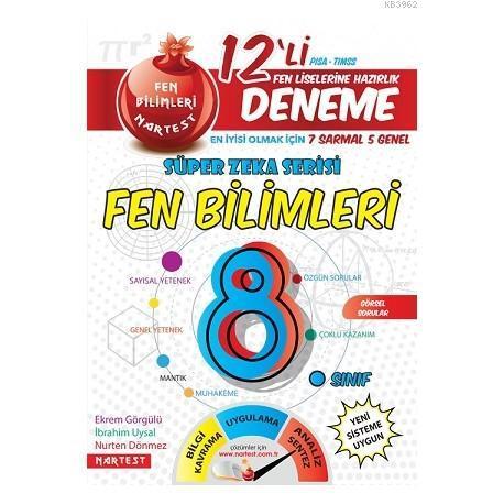8. Sınıf Nar Efsane Fen Bilimleri 12 Deneme Sınavı (7 Sarmal + 5 Genel)