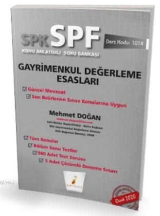 SPK - SPF Gayrimenkul  Değerleme Esasları Konu Anlatımlı Soru  Bankası 1014