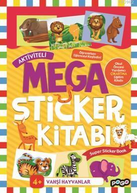 Aktiviteli Mega Sticker Kitabı; Vahşi Hayvanlar