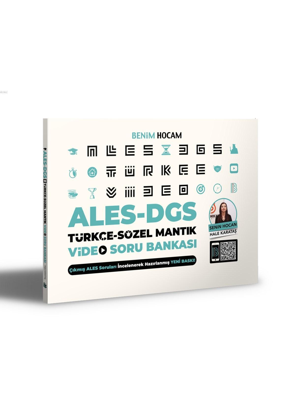 2021 ALES DGS Türkçe-Sözel Mantık Video Soru Bankası Benim Hocam Yayınları