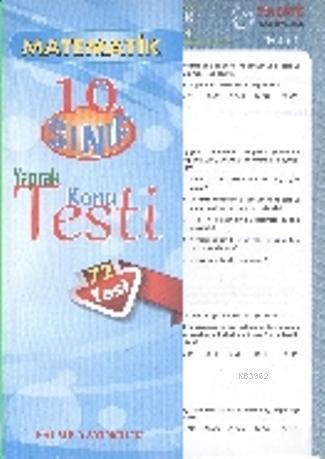 10. Sınıf Matematik Yaprak Konu Testi