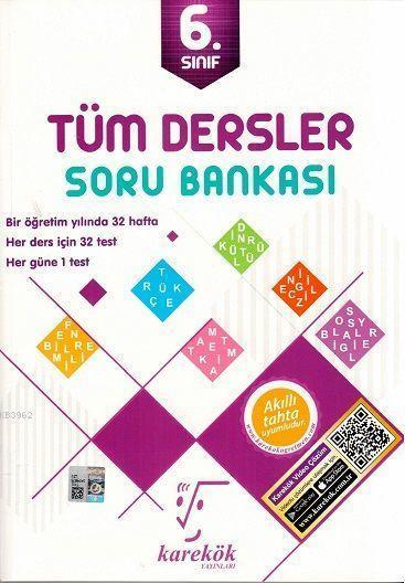 Karekök Yayınları 6. Sınıf Tüm Dersler Soru Bankası Karekök