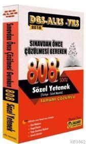 2018 DGS ALES YKS Öncesi Çözülmesi Gereken 808 Sözel Yetenek Çözümlü Soru