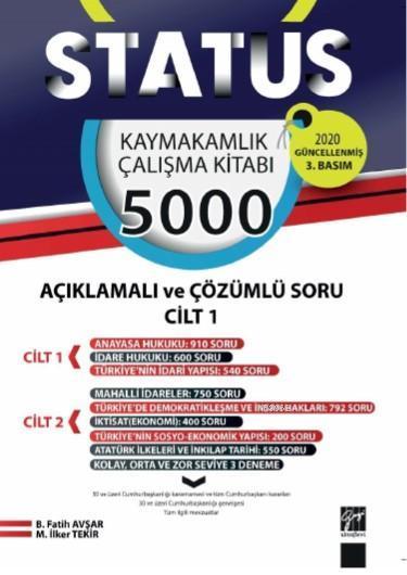 Status kaymakamlık Çalışma Kitabı 5000 Açıklamalı Çözümlü Soru 2 Cilt Takım; (2 Cilt Takım)