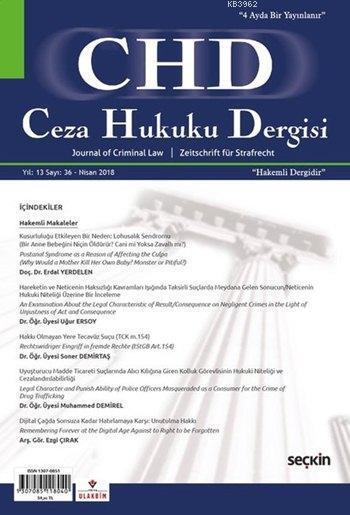 Ceza Hukuku Dergisi Sayı: 36 Nisan 2018