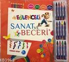 Eğlenceli Sanat ve Beceri Kırmızı Kitap (7 Yaş - Kalemli ) Kalem Hediyeli