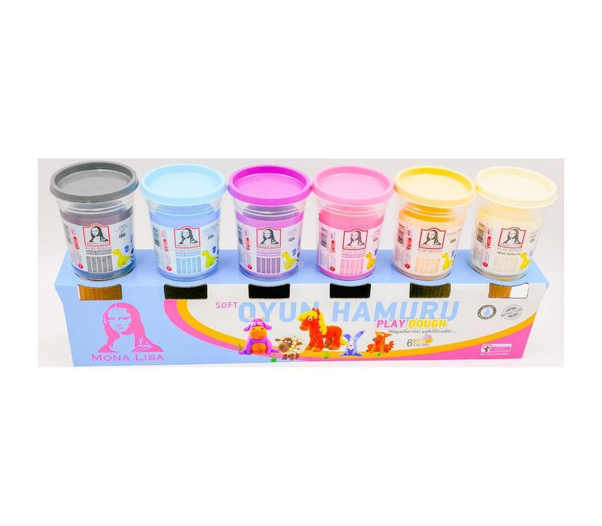 Monalisa 6'lı Oyun Hamuru Pastel Renkler