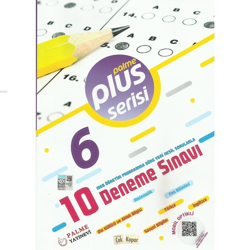Palme Yayınları 6. Sınıf 10 Deneme Sınavı Plus Serisi Palme