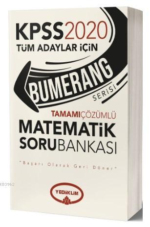 Yediiklim Kpss Bumerang Mat.Tam.Çöz Soru Bank-2020