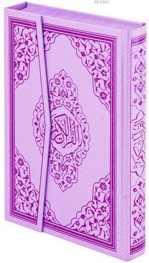 Kur'an-ı Kerim (Ayfa-123L, Orta Boy, Gül Desenli, Lila, Ciltli)
