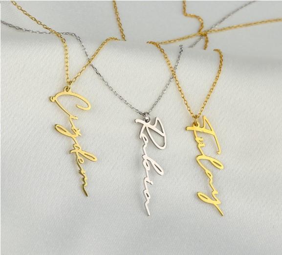 Gümüş ve Altın Kaplama Kolye; Gümüş (925 Ayar) ve Altın (14 Ayar) Kaplama Hediyelik Kolye
