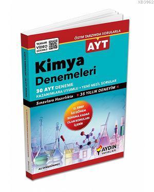 Aydın Yayınları AYT Kimya 30 Deneme 2020 Özel Aydın