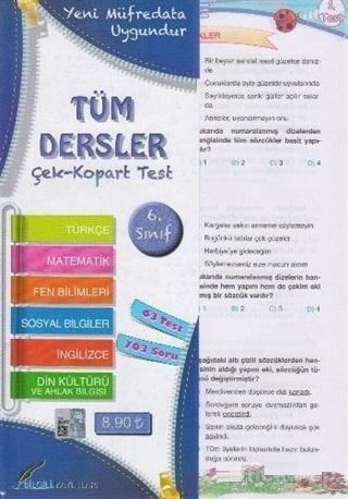6.Sınıf Tüm Dersler Çek Kopart Yaprak Test