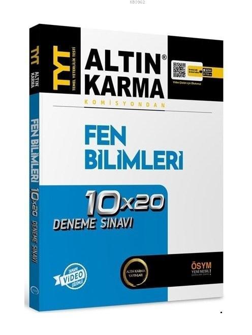 Altın Karma Yayınları TYT Fen Bilimleri Tamamı Video Çözümlü 10x20 Deneme Sınavı Altın Karma