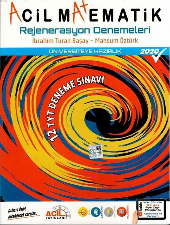 Acil Yayınları TYT Acil Matematik Rejenerasyon 12 li Denemeleri 2020 Acil