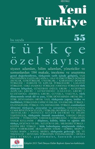 Türkçe Özel Sayısı; yeni türkiye tükçe özel sayısı-55