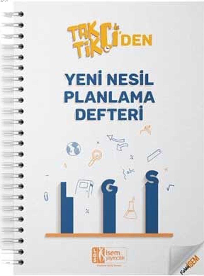 İsem Yayınları LGS Taktikçiden Yeni Nesil Planlama Defteri İsem