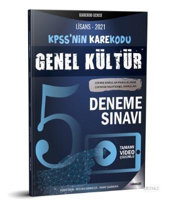 2021 KPSS Lisans Genel Kültür Video Çözümlü 5 Deneme Sınavı
