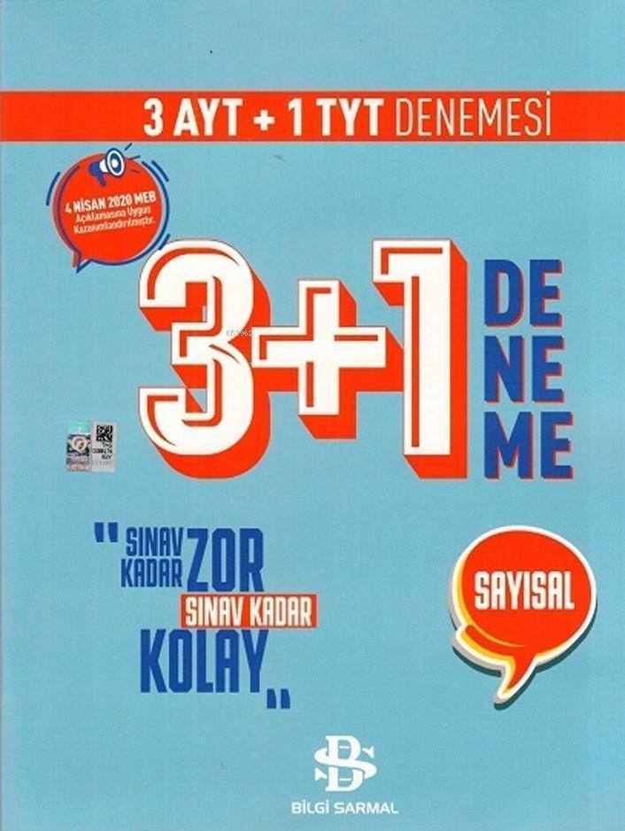 Bilgi Sarmal Yayınları TYT AYT Sayısal 3 + 1 Deneme 2020 Özel Bilgi Sarmal