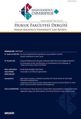 Hasan Kalyoncu Üniv.Hukuk Fak.Dergisi Sayı 14 Temmuz 2017