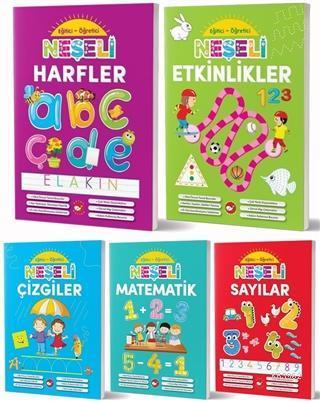 Okul Öncesi Eğitici Öğretici Neşeli Etkinlikler Seti (5 Kitap Takım)