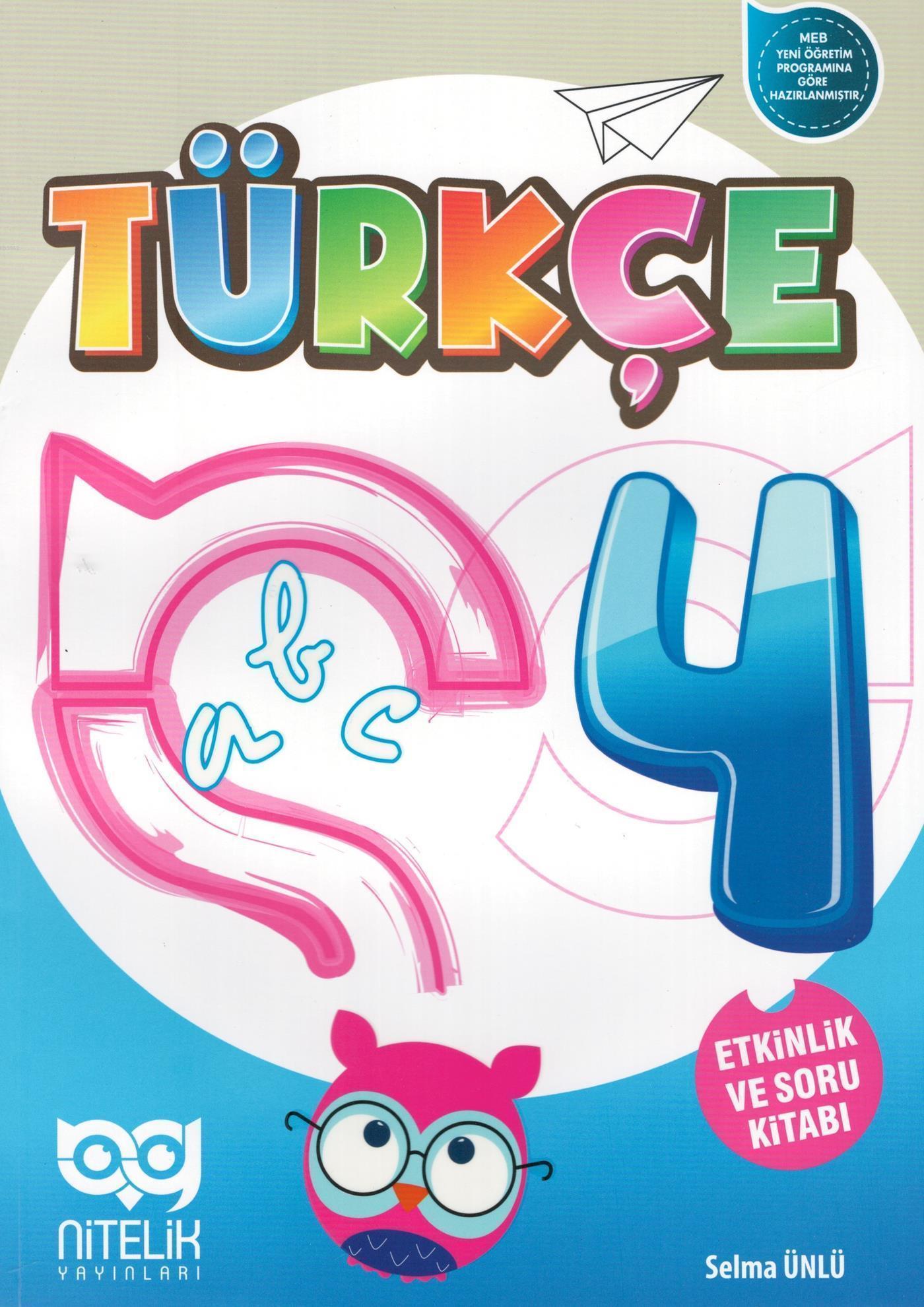 Nitelik Yayınları 4. Sınıf Türkçe Etkinlik ve Soru Kitabı Nitelik